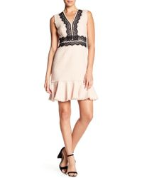 Rebecca Taylor | Tweed Lace Accented Dress | Lyst
