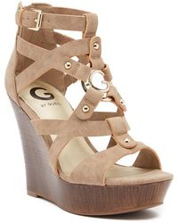 G by Guess - Dodge Platform Wedge Sandal - Lyst