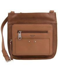 Perlina - Clare Leather Passport Crossbody Bag - Lyst