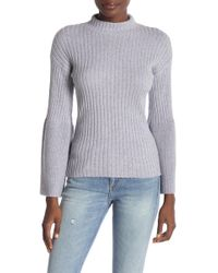 Lyst - Minnie Rose Python-print Long-sleeve Sweater in Gray