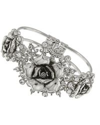 1928 - Crystal Flower Bracelet - Lyst