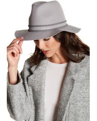 Michael Stars - Double Band Wool Fedora - Lyst