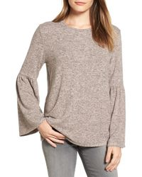 Gibson - Bell Sleeve Cosy Fleece Pullover - Lyst
