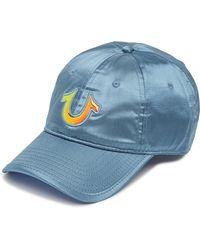 70571dbf True Religion Bleached Denim Baseball Cap in Blue for Men - Lyst