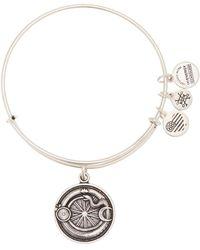 ALEX AND ANI - Ouroboros Pendant Adjustable Bracelet - Lyst