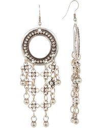 TMRW STUDIO - Tassel Open Circle Earrings - Lyst