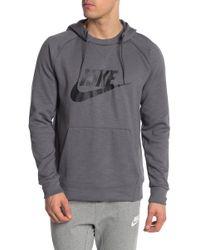 8646c17c Nike Optic Fleece Long-sleeve Pullover Hoodie in Black for Men - Lyst