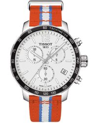 Tissot - Men's Quickster Chronograph Nba Oklahoma City Thunder Watch, 42mm - Lyst