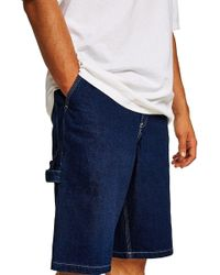 TOPMAN - Denim Carpenter Shorts - Lyst