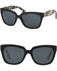 ce5bca03d28 Lyst - Prada Heritage 56mm Square Sunglasses in Brown