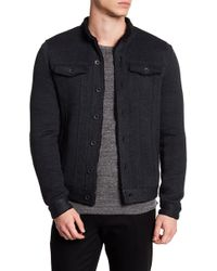 John Varvatos - Faux Shearling Knit Jacket - Lyst