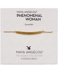 Dogeared - 14k Gold Vermeil Maya Angelou Phenomenal Woman Id Bar Bracelet - Lyst