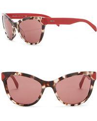 Prada - Heritage 56mm Cat Eye Sunglasses - Lyst