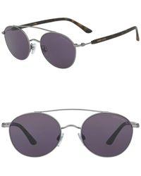 Giorgio Armani 54mm Round Sunglasses