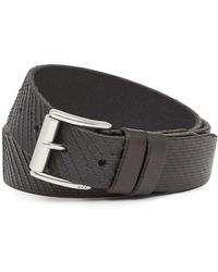 John Varvatos - Laser-cut Leather Buckle Belt - Lyst