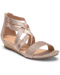 Kenneth Cole Reaction - Great Stretch Wedge Sandal - Lyst