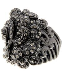Ariella Collection - Baroque Pave Ring - Lyst