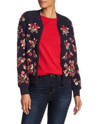 French Connection - Gilliam Embroidered Bomber Jacket - Lyst