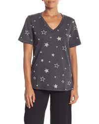 Michael Stars - Star Printed Short Sleeve Sweater Top - Lyst