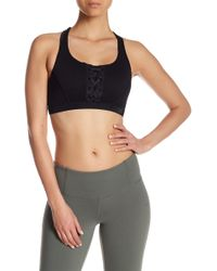 Body Glove - Charge Mesh Lace-up Sports Bra - Lyst