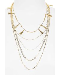 Rebecca Minkoff | Long Layered Necklace With Metallic Tassels | Lyst