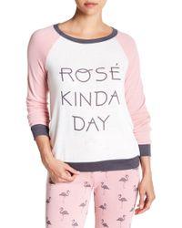 Pj Salvage - Rose Raglan Sleeve Pajama Top - Lyst