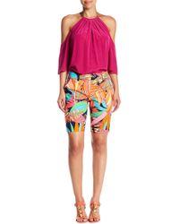 Trina Turk - Moss Floral Print Bermuda Shorts - Lyst