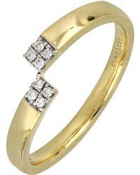Bony Levy - 18k Yellow Gold Diamond Asymmetrical Ring - Lyst