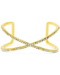 BaubleBar - Ion Glass Crystal Detail X Open Cuff - Lyst