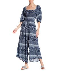 Dress Forum - Printed Puff Sleeve Jumpsuit - Lyst