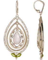 Jenny Packham - Orbital Crystal Drop Earrings - Lyst