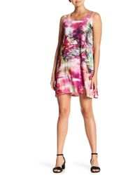 Sienna Rose - Sleeveless Printed Dress - Lyst