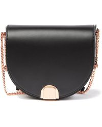 Ted Baker - Izzy Flip Clasp Moon Leather Bag - Lyst