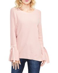 Two By Vince Camuto - Texture Stitch Tie-sleeve Top (petite) - Lyst