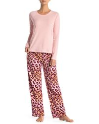 Maidenform - Fleece Pajamas - Lyst