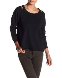 Sweet Romeo - Cold-shoulder Pullover Sweatshirt - Lyst