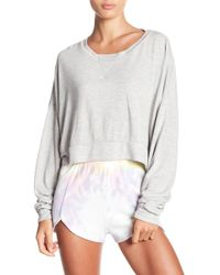 Wildfox - Cropped Long Sleeve Pullover - Lyst