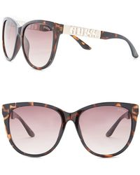 Guess - Cat Eye Acetate Frame Sunglasses - Lyst