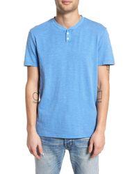 The Rail - Garment Dye Slub Knit Henley - Lyst