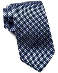 BOSS - Checker Pattern Silk Tie - Lyst