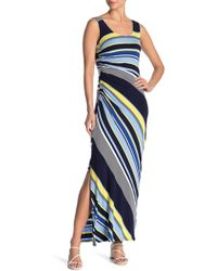 f1e2b8a29e9 Spense - Striped Side Ruched Maxi Dress - Lyst