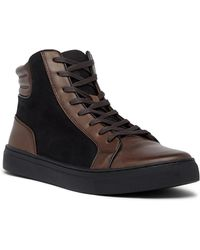 Kenneth Cole Reaction - Contrast Leather Hi-top Sneaker - Lyst