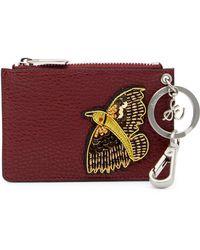 Sam Edelman - Carter Bird Leather Card Slot - Lyst