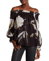 Religion - Admire Off-the-shoulder Printed Blouse - Lyst