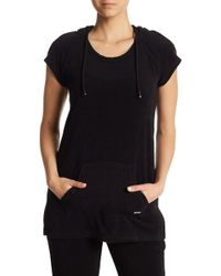 Marc New York - Terry Cloth Hooded Tunic - Lyst