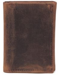 English Laundry Crazy Horse Leather Tri-fold Wallet - Brown