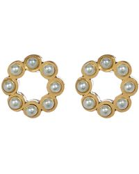 Marc By Marc Jacobs - Faux Pearl Circle Stud Earrings - Lyst