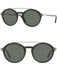 9a83eea6de141 Persol - 51mm Saratoria Round Sunglasses - Lyst