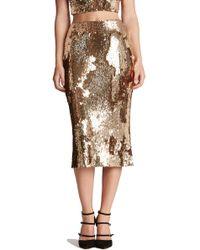 Dress the Population - 'sasha' Sequin Midi Skirt - Lyst