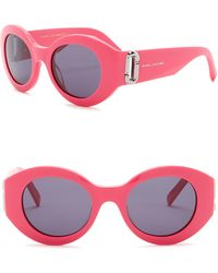 Marc Jacobs - 49mm Round Sunglasses - Lyst